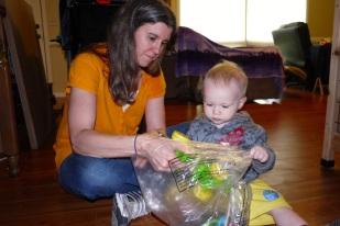 In the plastic bag