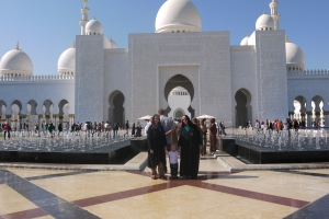 Outside the Grand Mosque