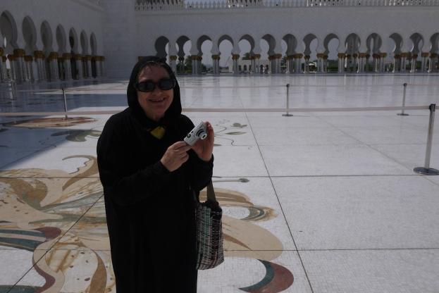 Mariann at Grand Mosque